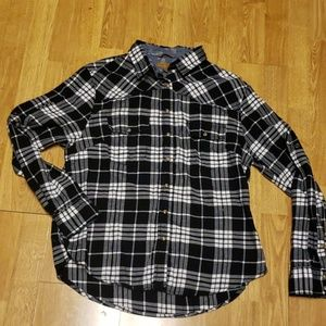 Jachs Girlfriend Bea black/white plaid flannel